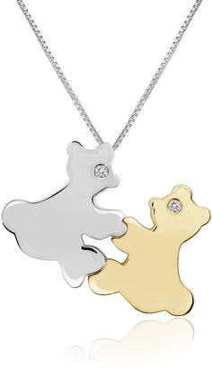 Forzieri Diamond & 18K Gold Teddy Bears Pendant Necklace