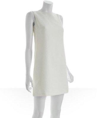 Elie Tahari ivory floral brocade wool 'Orane' shift dress