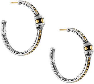 John Hardy 'Dot Gold & Silver' Station Hoop Earrings