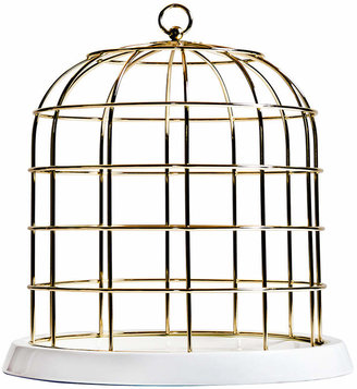 Seletti Twitable Gold Metal Birdcage