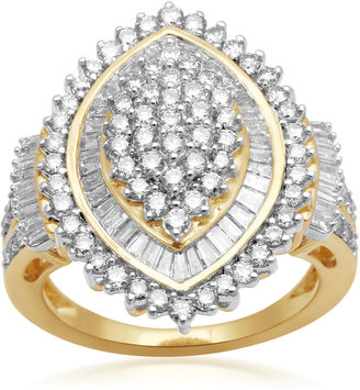 FINE JEWELRY 2 CT. T.W. Diamond 10K Yellow Gold Cluster Ring $2,500 thestylecure.com