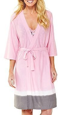 JCPenney Insomniax® Dip-Dyed Wrap Robe