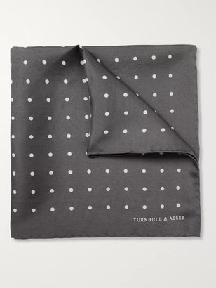Turnbull & Asser Polka-Dot Silk Pocket Square