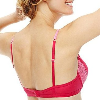 JCPenney Cosmopolitan After Dark Eyelash Lace Plunge Pushup Bra