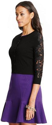Diane von Furstenberg Doris Cropped Lace Cardigan