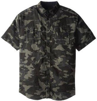 Sean John Men's Big-Tall Short Sleeve Camo Linen Flight Shirt