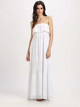 Melissa Odabash Crochet Strapless Maxi Dress