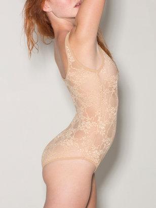 American Apparel Stretch Floral Lace Bodysuit
