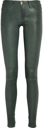 Current/Elliott The Ankle stretch-leather skinny pants