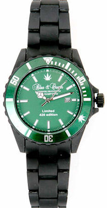 Blue & Cream Blue&Cream 420 Limited Edition Timepiece in Green/Black