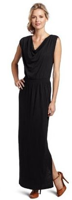Lilla P Women's Flame Modal Drape Neck Maxi Dress