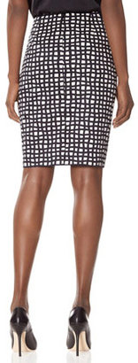 The Limited Grid Flux Pencil Skirt