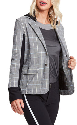 Anatomie Ingrid Plaid Blazer with Removable Hood
