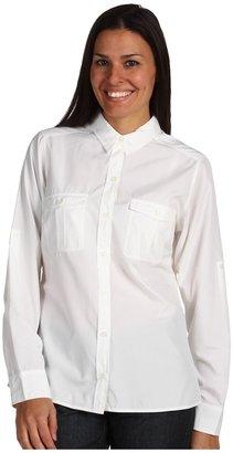 Patagonia L/S La Reina Shirt (White) - Apparel