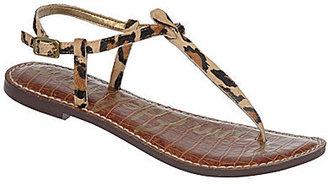 Sam Edelman Gigi Leopard-Print Pony Hair T-Strap Sandals