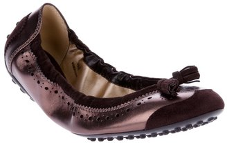 Tod's Brogue ballerina pumps
