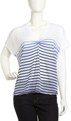 Young Fabulous & Broke Young Fabulous and Broke Shadow-Stripe Ombre Top, Navy