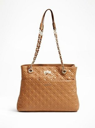 GUESS Quilted Leather Tote