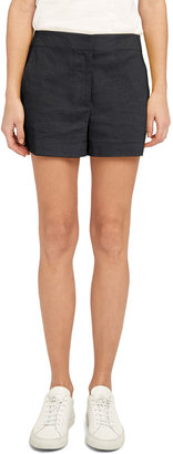 Theory Crunch Wash Linen Shorts