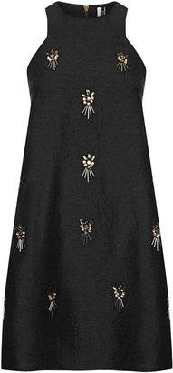 Topshop Embellished A-line Dress