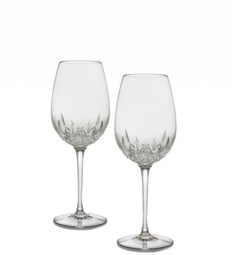 Waterford Set of Two Lismore Essence Crystal Red Wine Glasses