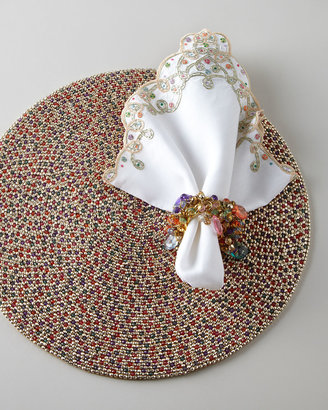 Kim Seybert Beaded Placemat & Napkin