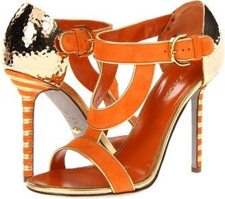 Sergio Rossi A51280 (Orange/Gold) - Footwear