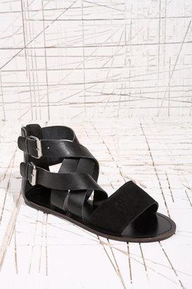 Deena & Ozzy Fiji Embossed Sandals in Black