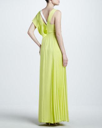J. Mendel Asymmetric Georgette Gown