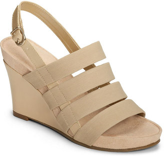 Aerosoles Picture Plush Platform Wedge Sandals
