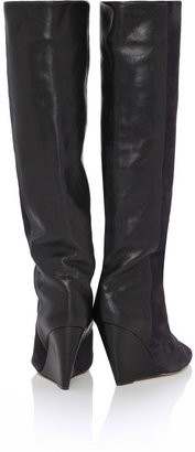 Isabel Marant Prescott suede and leather knee boots