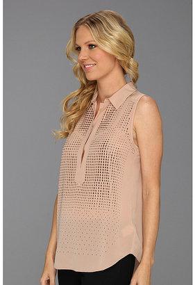 Rebecca Taylor Embellished Sleeveless Top