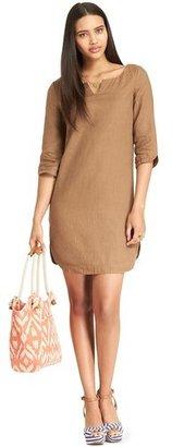 Tommy Hilfiger Women's 3/4 Sleeve Cotton Linen Shift Dress