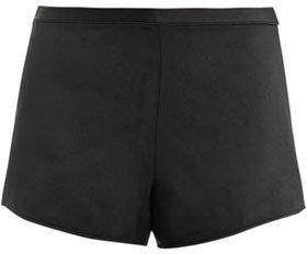 Alexander Wang Satin-crepe piped running shorts