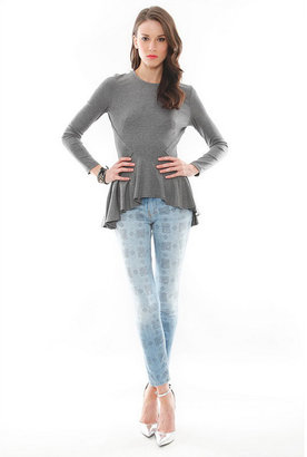 Torn By Ronny Kobo Alaina Shirt in Charcoal
