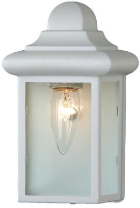 Vista 1-Light White Outdoor Wall Mount Sconce