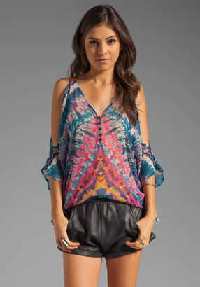 Twelfth St. By Cynthia Vincent By Cynthia Vincent Esmerelda Leather Strap Cold Shoulder Top