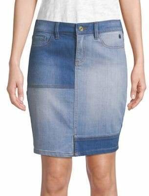 Tommy Hilfiger Patchwork Denim Skirt