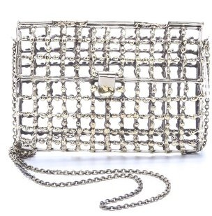 Anndra neen Dotted Open Cage Purse
