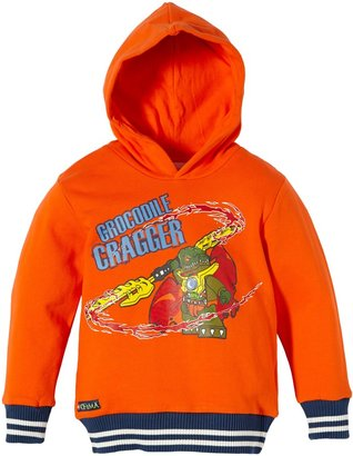 LEGO Wear Boy's Hooded Long - regular Hooded Top Orange - Orange (267 ORANGE) 6 Years