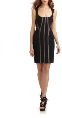Marios Schwab Lace Trim Sheath Dress
