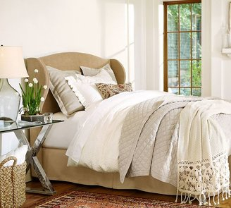 Raleigh Upholstered Wingback Bed & Headboard