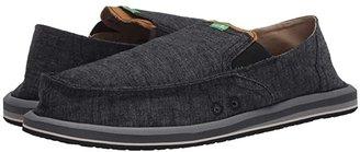 Sanuk Pick Pocket Hemp (Black 1) Men's Slip on Shoes