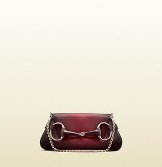 Gucci 1921 Collection Leather Shoulder Flap Bag With Horsebit Detail