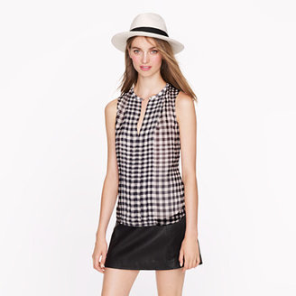 J.Crew Silk gingham top