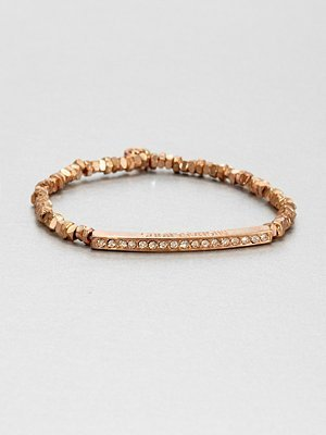 Michael Kors Pave Bar Stretch Bracelet/Rose Goldtone