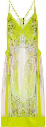 Roberto Cavalli Printed silk-chiffon dress