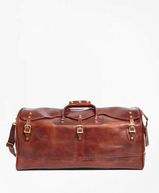 Brooks Brothers J.W. Hulme Leather Medium Duffel Bag