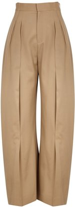 J.W.Anderson Sand Belted Wide-leg Wool Trousers