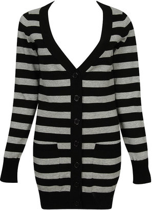 Forever 21 Lena Striped Sweater Cardigan